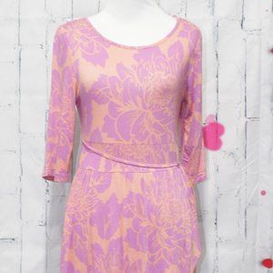 VFISH PINK FLORAL DRESS SIZE SMALL